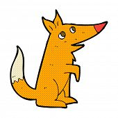 retro comic book style cartoon fox cub
