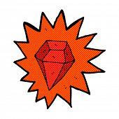 retro comic book style cartoon huge ruby