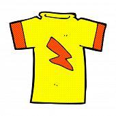 retro comic book style cartoon t shirt with lightning bolt