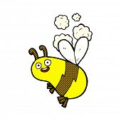 funny retro comic book style cartoon bee