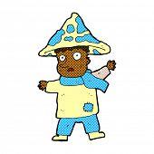picture of magical-mushroom  - retro comic book style cartoon magical mushroom man - JPG