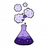 retro comic book style cartoon science chemicals