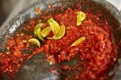 picture of pestle  - Making sambal - JPG