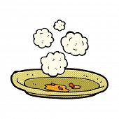 retro comic book style cartoon empty plate