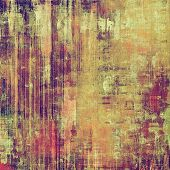 Grunge aging texture, art background. With different color patterns: yellow (beige); brown; green; purple (violet); pink