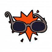 retro comic book style cartoon sunglasses
