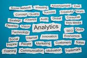Word Analytics On Piece Of Torn Paper