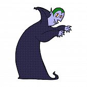 retro comic book style cartoon spooky vampire