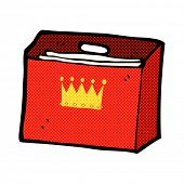 retro comic book style cartoon royal business files