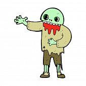 retro comic book style cartoon spooky zombie