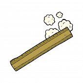 retro comic book style cartoon wooden ruler