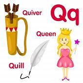 Illustrator of Q alphabet