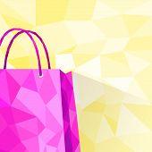 shopping bag copy space polygon style design
