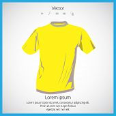 Men's yellow short sleeve t-shirt