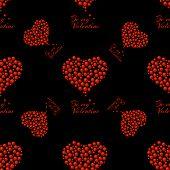pattern of bubble hearts