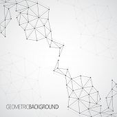 Geometric gray background Molecule and communication for your design and your text