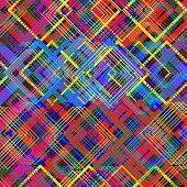 Seamless, Pattern, Mottled, Colorful, Diamonds, Stripes, Bright, Background.eps