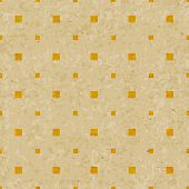 Abstract vintage squares pattern on grunge old paper texture Seamless hipster geometric background.