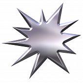 3D Silver Starburst