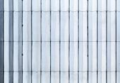 Shining Blue And White Metal Wall Surface