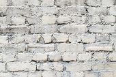 Old Brick Facade Of Pale Color