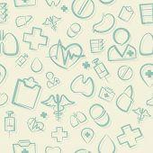 Green Medical Seamless Pattern