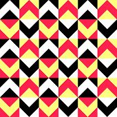 Seamless Triangle and Square Pattern. Vector Regular Texture