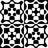 Seamless Oriental Pattern. Abstract Monochrome Background.