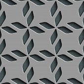 Seamless Rhombus Pattern. Vector Background. Gray Regular Texture