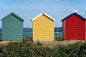 Beach huts on a seafront