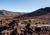 Lunar Landscape Of Teide National Park. Tenerife. Canary Islands, Spain