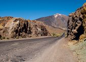 foto of canary  - Scenic view of volcano Teide Tenerife - JPG