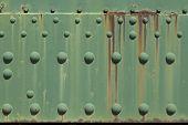 Rusty green metal plate
