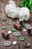 Sewing Accessories From Threads And Buttons