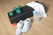 Different tools for fitness in a gym