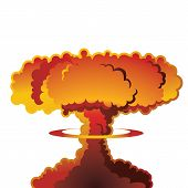 picture of nuclear bomb  - A nuclear weapon exploding - JPG