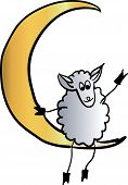 sheep on a star vector illustration