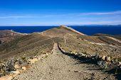 Path on Isla del Sol in Lake Titicaca, Bolivia