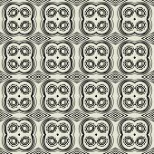art black graphic geometric seamless pattern, square background with elegant circle ornament in art deco style