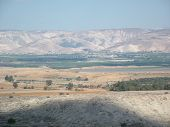 picture of israel people  - The valley of the biblical Jordan river is the scenario of the Land of Promise conquest by the leader Joshua and the People of Israel