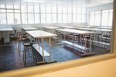Empty class room in college