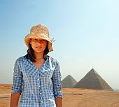 Teenage Girl Tourist In Egypt