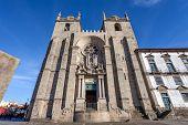 Porto Cathedral or Se Catedral do Porto. Romanesque and Gothic architecture. Unesco World Heritage Site