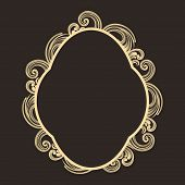 Stylish frame decorated by beautiful floral design.