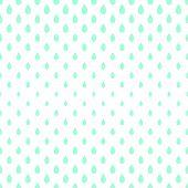 Seamless raindrops pattern background, blue on white