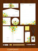 Colorful professional corporate identity set with abstract design for your business includes CD Cover, Business Card, Envelope, ID Card, Smartphone and Letterhead.