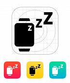 Sleep mode in smart watches icon.