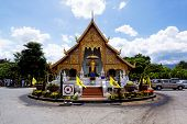 Old wooden church of Wat Lok Molee Chiang mai Thailand