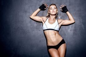 pic of slim model  - attractive fitness woman - JPG