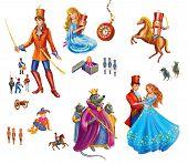 stock photo of nutcracker  - Set cartoon Characters for fairy tale Nutcracker illustration - JPG